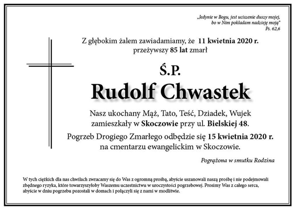 nekrolog: śp. Rudolf Chwastek