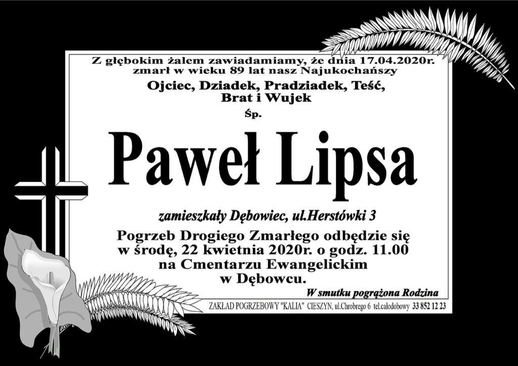 niekrolog: śp. Paweł Lipsa