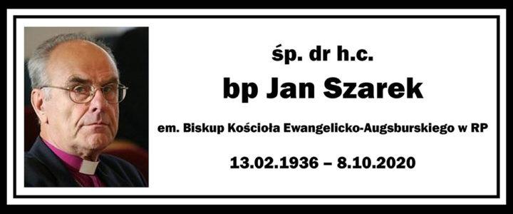 Zmarł emerytowany Biskup Kościoła dr h.c. Jan Szarek