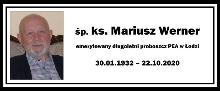 Zmarł ks. kons. Mariusz Werner