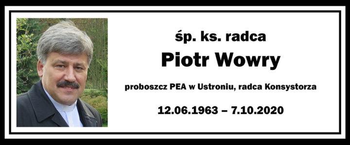 Zmarł ks. radca Piotr Wowry