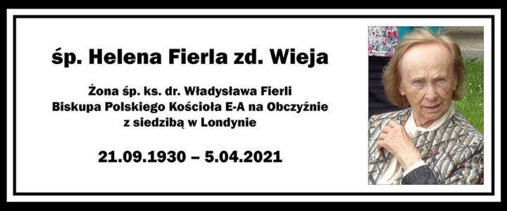 Zmarła biskupowa Helena Fierla zd. Wieja