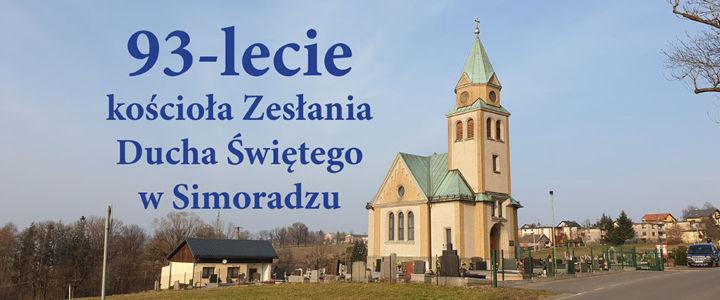 95. pamiątka założenia kościoła w Simoradzu