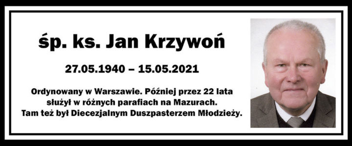 Zmarł ks. Jan Krzywoń